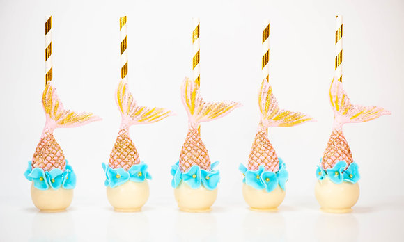 Mermaid Cake Pops - 1 Dozen