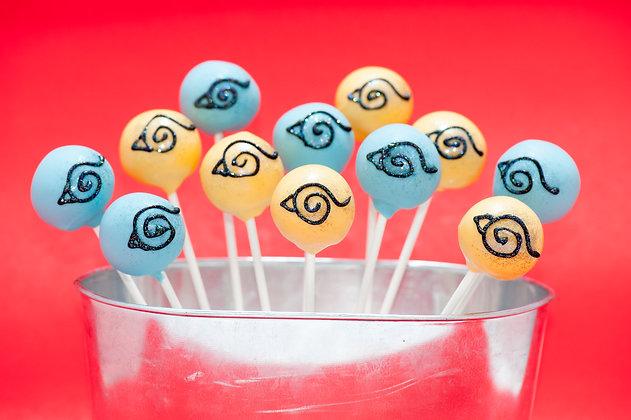 Naruto Cake Pops - 1 dozen