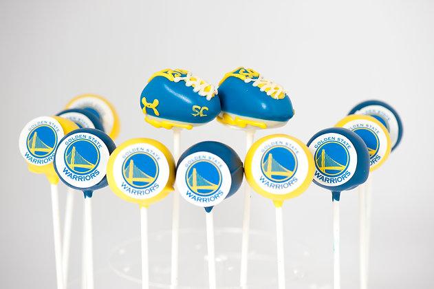 Basketball Team Custom Cake Pops - 1 dozen