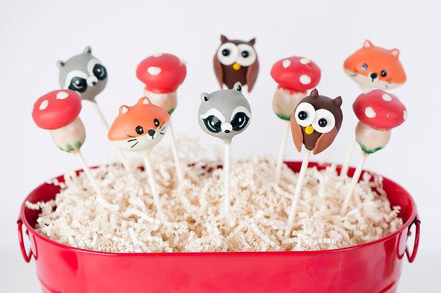 Woodland Animal Cake Pops - 1 Dozen