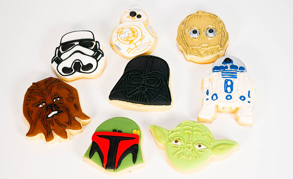 Star Wars themed cookies - 1 dozen