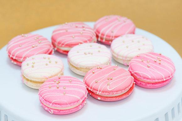 Drizzled macarons - 1 dozen