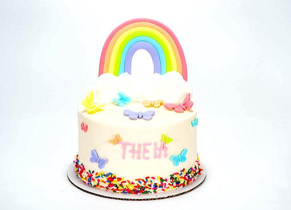 Rainbow Cake - 6 inch round (feeds 8-10)