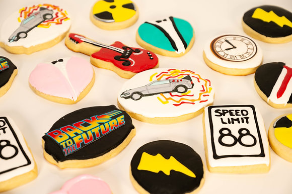 Back to the Future Themed Cookies - 1 dozen