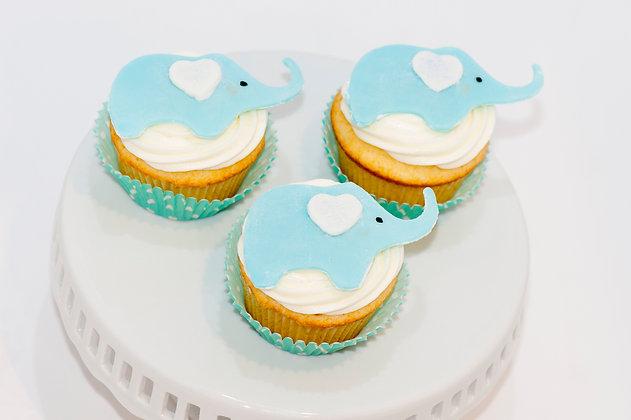 Elephant Cupcakes - 1 dozen
