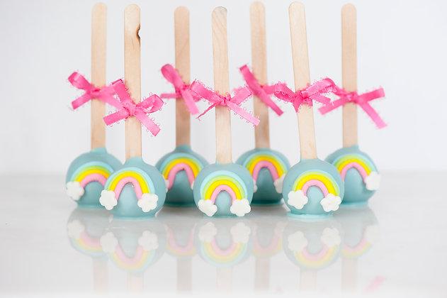 Rainbow Cake Pops - 1 Dozen