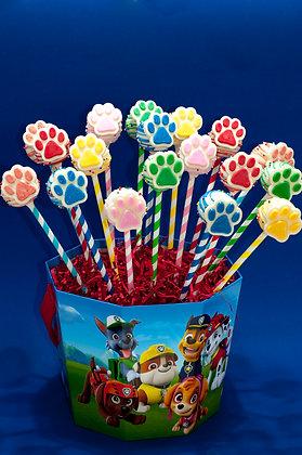 Paw Patrol Inspired Cake Pops - 1 dozen