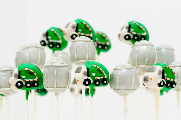 Garbage Truck and Trash Can Cake Pops - 1 dozen