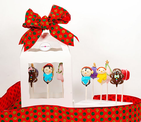 Holiday Cake Pop Gift Box - 6 or 12 pack