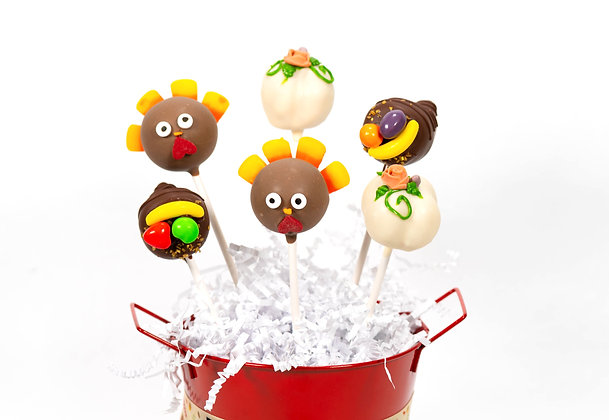 Thanksgiving Cake Pops - 6 piece gift box