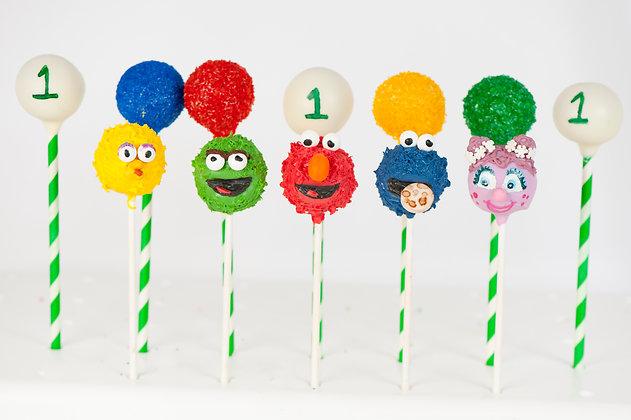 Sesame Street Cake Pops - 1 Dozen