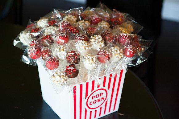 Movie Night Cake Pop Bucket -4 dozen