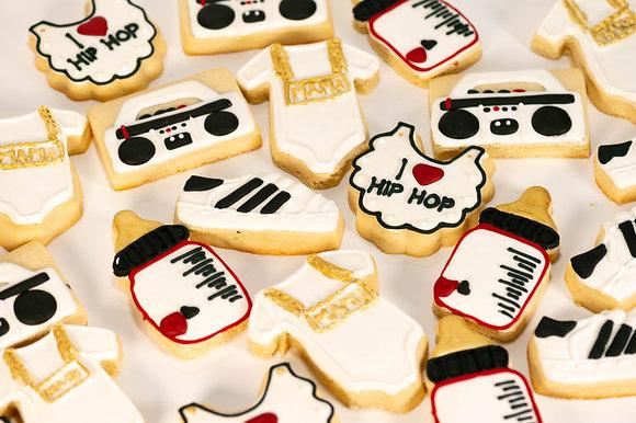I Love Hip Hop Baby Shower Cookies - 1 Dozen