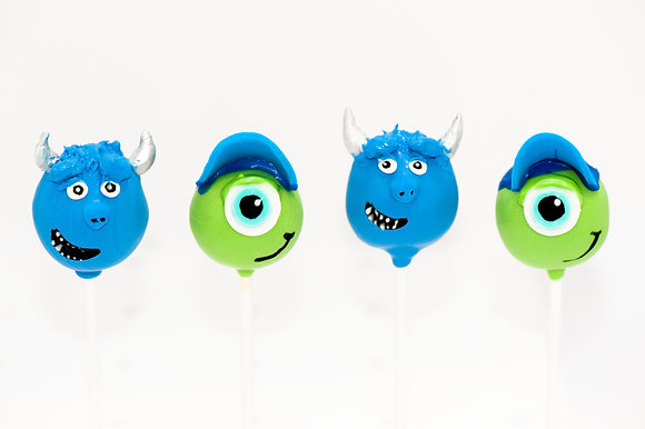 Monster's University Cake Pops - 1 dozen
