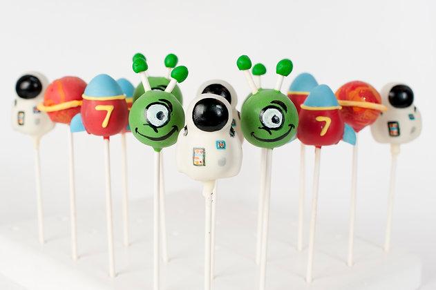 Space Themed Cake Pops - 1 Dozen