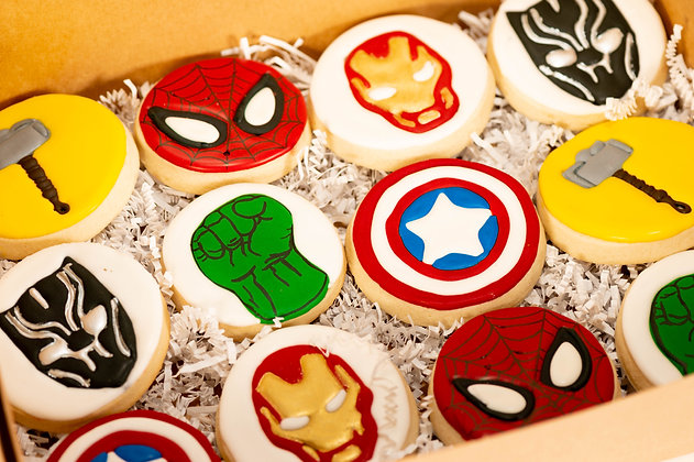 Avengers Themed Sugar Cookies - 1 dozen