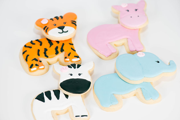 Jumbo Animal Cookies - Set of 4