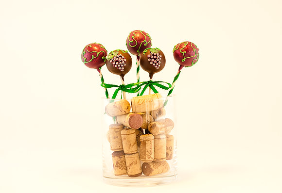 Wine Connoisseur Custom Cake Pops Gift Set