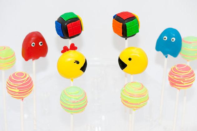 80's Themed Cake Pops - 1 dozen