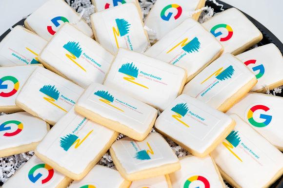 Custom Logo Sugar Cookies (rectangle) - 1 dozen