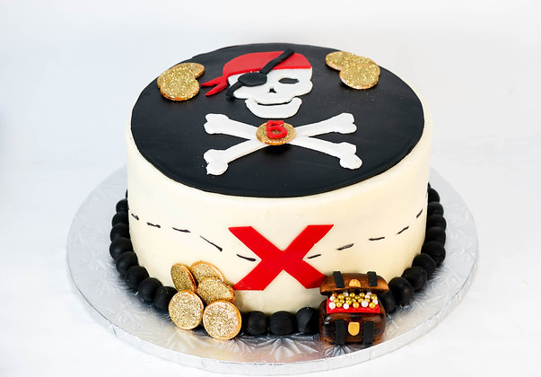 Pirate Cake - 6 inch round (feeds 8-10)