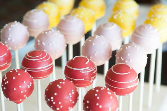 Stripes and Dots Cake Pops - 1 dozen