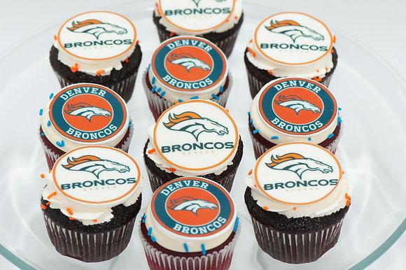 Sports Team Cupcakes - 1 dozen