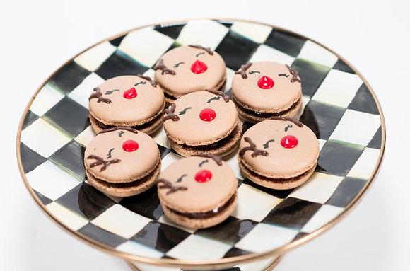 Reindeer Macarons - 1 Dozen