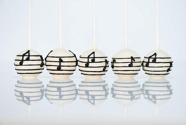 Music Note Cake Pops- 1 Dozen