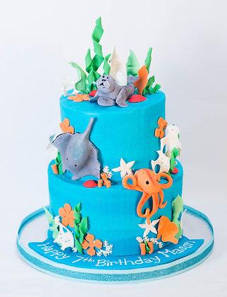 Sea Life Themed Cake
