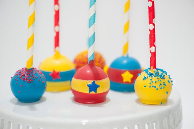 Circus Themed Cake Pops - 1dozen