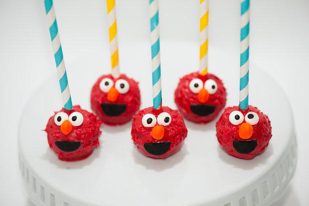 Elmo Cake Pops - 1 dozen
