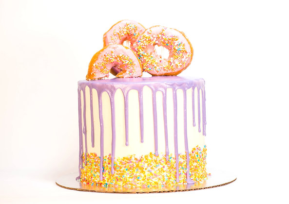 Donut Drip Cake - 6 inch round (feeds 8-10)