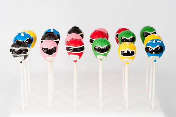 Power Rangers Cake Pops - 1 Dozen
