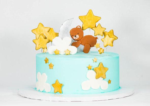 Moon and Star Teddy Bear Cake - 6 inch (feeds 8-10)
