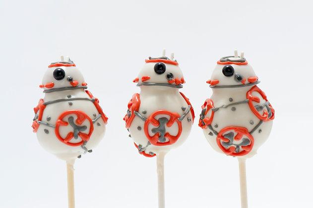 BB8 Custom Cake Pops - 1 dozen