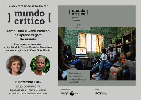 """""""Jornalismo e comunicação na aprendizagem do mundo"""" - nova edição da Mundo Crítico lançada"""