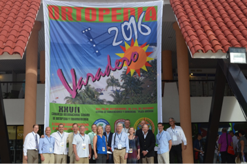 Some of the volunteers seen here at the 27th Annual International Cuban Congress of Orthopaedics and Traumatology.