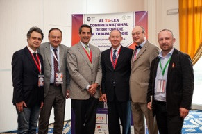 Dr. Guido Marra (third from left) and Dr. William Stetson (third from right) with their Romanian colleagues on their first trip to Romania in 2013. This trip inspired Dr. Marra and Dr. Stetson to develop a program to bring modern shoulder surgery techniques to Romania with the help of the American Academy of Orthopaedic Surgeons (AAOS) and the Romanian Orthopaedic and Traumatology Society (SROT).