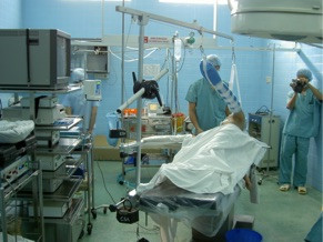 The operating room in Ho Chi Minh City/Saigon with donated equipment from Operation Arthroscopy.