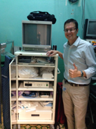 Fernando Contrares with his new arthroscopic equipment donated by Operation Arthroscopy in June 2014