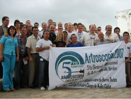 Volunteers from the 5th Annual Arthroscopy Symposium in Ciego de Avila in 2007. The course continues and just celebrated its 14th year with the help of volunteers across the globe.