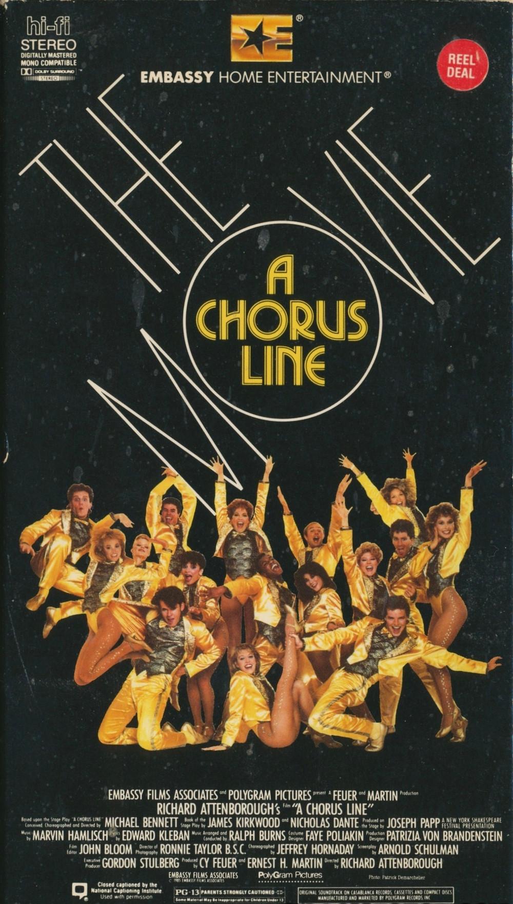 A Chorus Line VHS Box