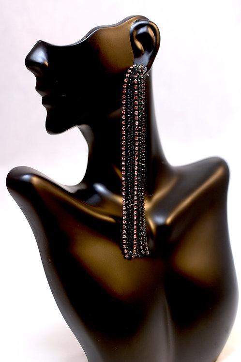 Tassel Earrings with Gemstone Details