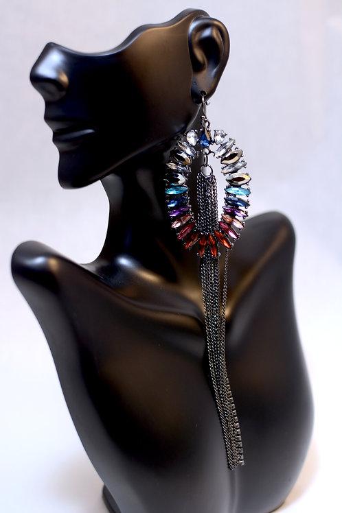 Bohemian Tassel & Gemstone drop Earrings