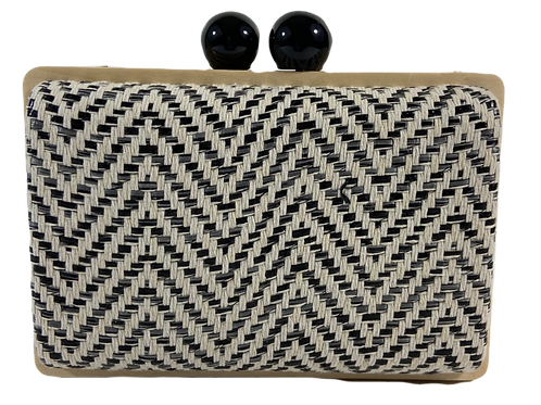 Black & White Statement Clutch