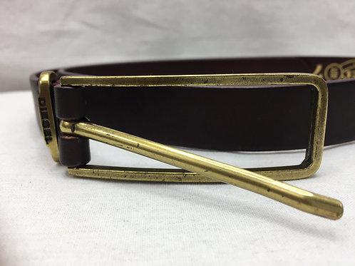 Diesel OxBlood Leather Belt