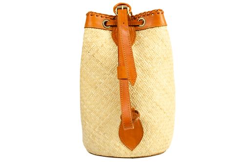 Rattan & Leather Backpack