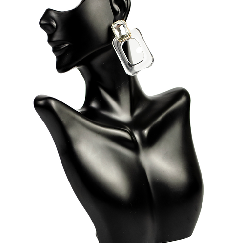 Transparent Crystal Earrings
