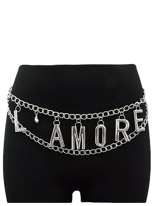 L'Amore Chain Waist and Hip Belt - Silver